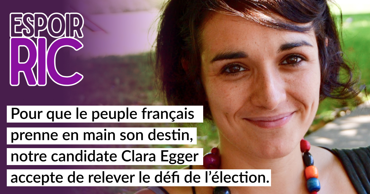 Communiqué de presse : Une candidate pour la transition démocratique vers une France au service de ses citoyens.