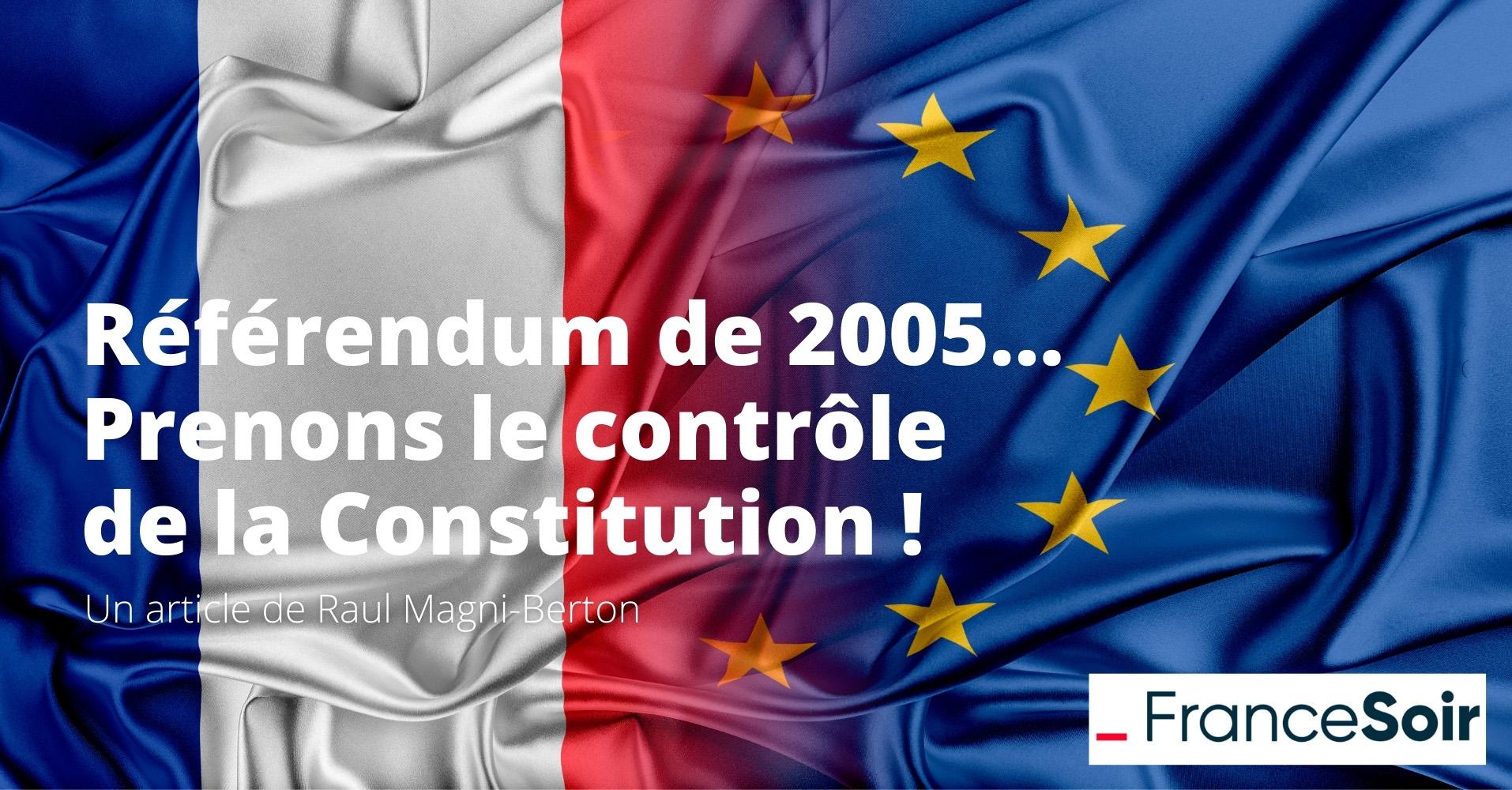 Triste anniversaire du référendum de 2005 sur le traité constitutionnel européen…