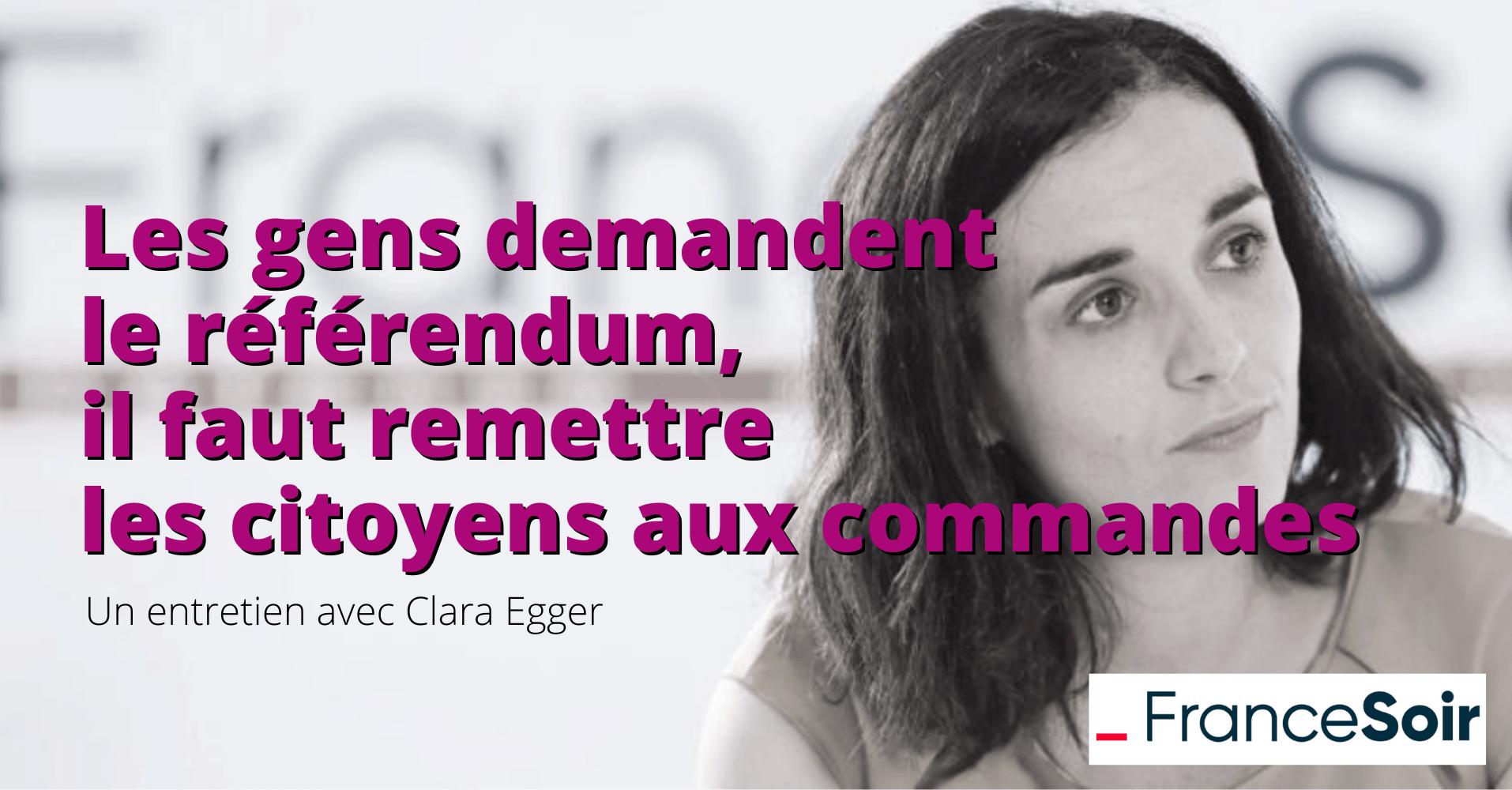 Entretien Clara Egger France Soir